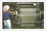 織り機に入れる
